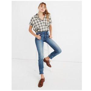Madewell Slim Straight Distressed Jeans